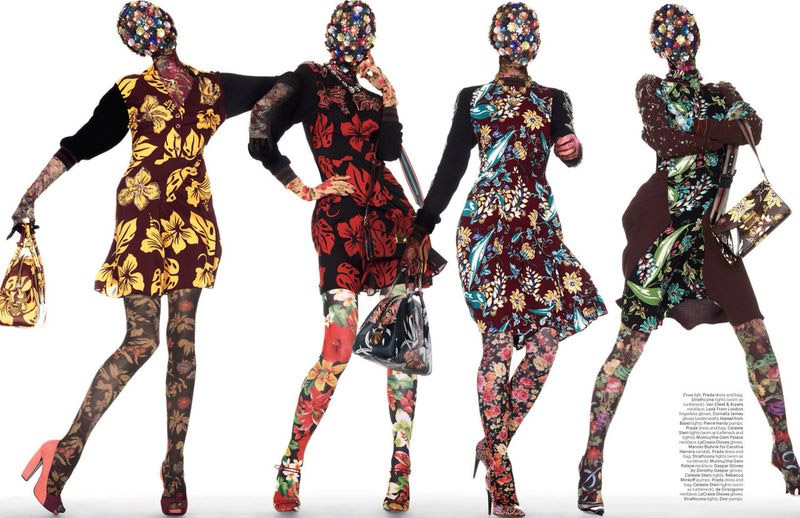 W magazine flower and floral trends for SS14. Floral Summer 2014 fashion